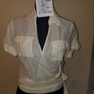 #280 NWOT Parallel 2 Linen Cotton Blend Wrap Safar